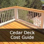 Cedar Deck Cost Guide