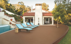 Trex Enhance Decking In Beach Dune And Saddle Color
