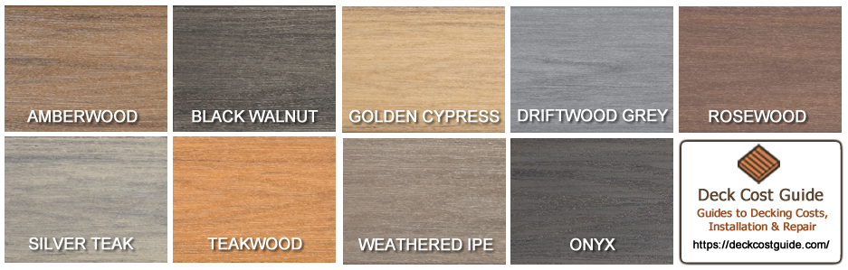 Wolf Serenity PVC - Tropical Hardwood Deck Colors